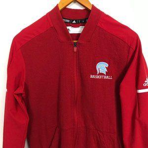 Adidas Climalite Trojan Basketball Red Zip Jacket